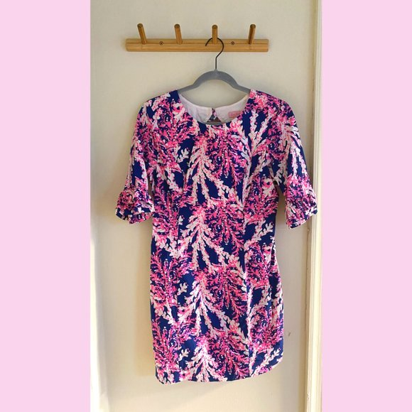 Lilly Pulitzer Coral Cocktail Dress –Size 4